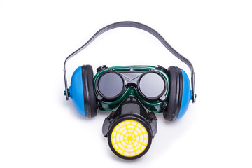 Safety Gear Mask,ear defenders and goggles