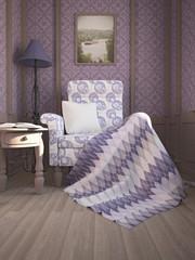 Уютное кресло в классическом стиле