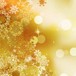 Festive gold Christmas with bokeh lights. EPS 10