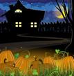 Pumpkins and house
