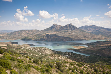 Views of Zahara – El Gastor Reservoir, Cadiz, Andalusia, Spain