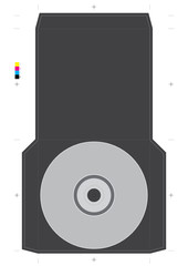 Compact Disc Packaging Template