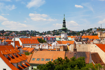 View of the historical center of Bratislava