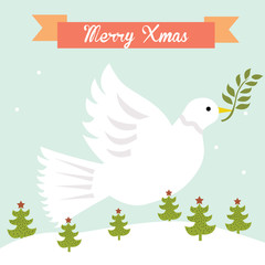 dove christmas greeting card