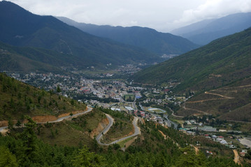 View of the city, Thimphu, Bhutan