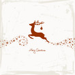 Flying Reindeer, Christmas Ball & Stars Beige/Brown Scratches
