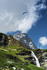 Paragliding over the Matterhorn, Aosta Valley
