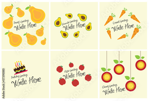 Various food greeting card