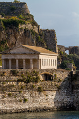 Hellenic temple at Corfu island