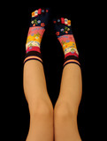 Girl wearing toe socks