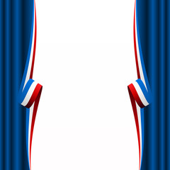 Abstract American, English and French curtain flag