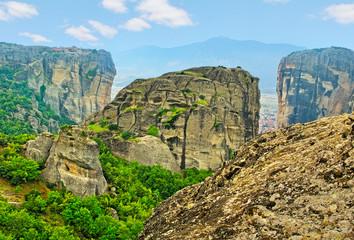 Mountains in Meteora.