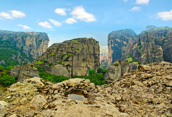 Mountains in Meteora.