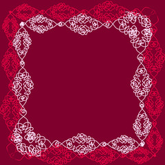 Frame. Lace made of roses.