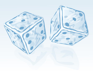 Two ice dices