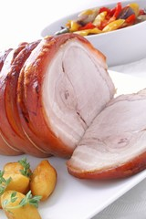 roast rolled pork joint