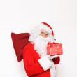 Weihnachtsmann mit Sack und Geschenk