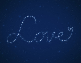 love heart bright stars