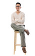 Asian male sitting on a chair