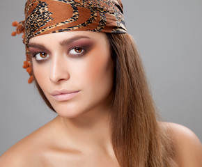 Young beauty with a headscarf