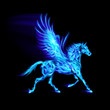Blue fire Pegasus.