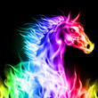 Colorful fire horse.