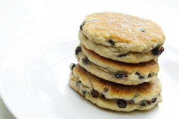 traditional welsh cakes on white plate