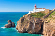 canvas print picture - Lighthouse of Cabo Sao Vicente, Sagres, Portugal