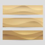 Fototapety Vector sand banner set