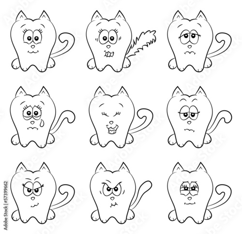 Cute cats emotions