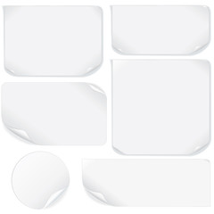 Isolated Blank Paper Sheet.