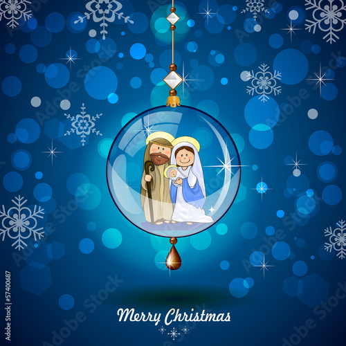 Holy Family in transparent ball