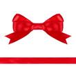 red bow ribbon