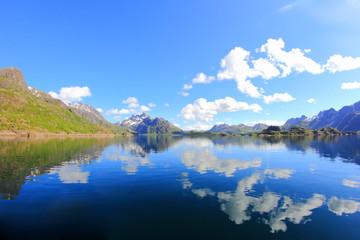 Mirrors near Trollfjord