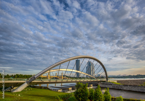 A bridge and clouds formation in Putrajaya, Malaysia