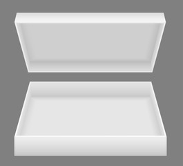 white open packing box vector illustration