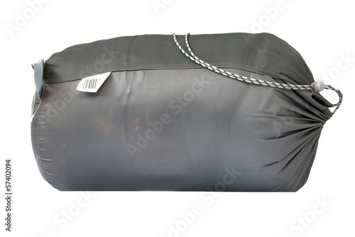 packed sleeping-bag