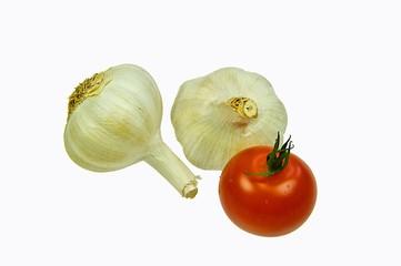 Tomate mit Knoblauch