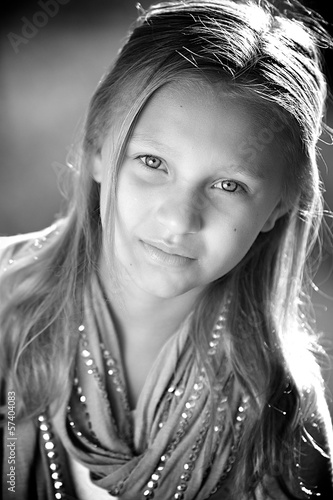 Black and White Picture Of Girl