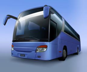 Blauer Reisebus