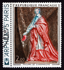 Postage stamp France 1974 Cardinal Richelieu, by Philippe