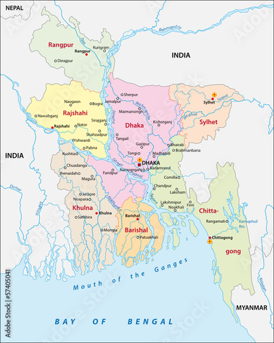 Bangladesh administrative map