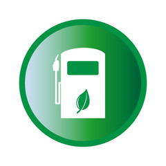 Vector illustration of ecologic gas pump sign