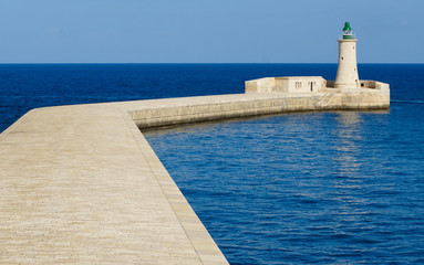 Lighthouse on Malta, Mediterranean sea