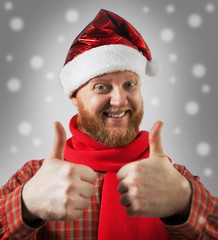 Man in a hat santa claus