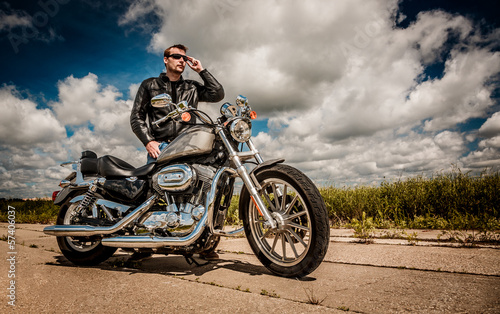 Biker on the road