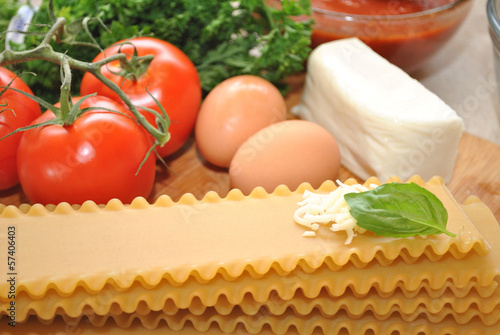 Homemade Lasagna Ingredients