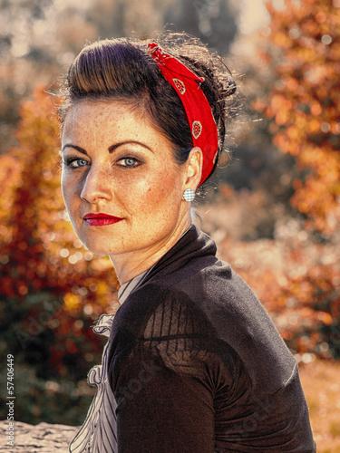 Die amerikanische Schauspielerin mit konopuschkami