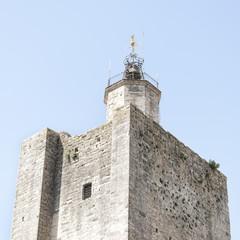 Detalle de una torre de un castillo