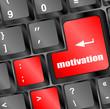motivation button on computer keyboard key